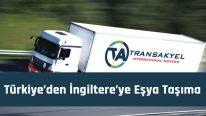 Türkiye'den İngiltere'ye Eşya Taşıma